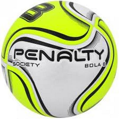 Bola Futebol Society Penalty 8 X - Branco e Amarelo