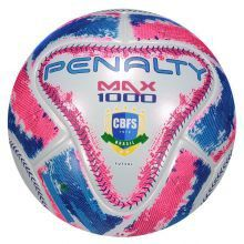 Bola Futsal Penalty Max 1000 IX - Adulto - Azul e Rosa