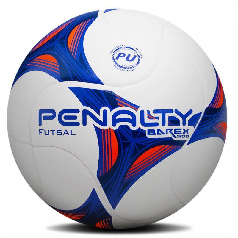 Bola Futsal Penalty Barex 500 - Branca Azul a038160875b5c