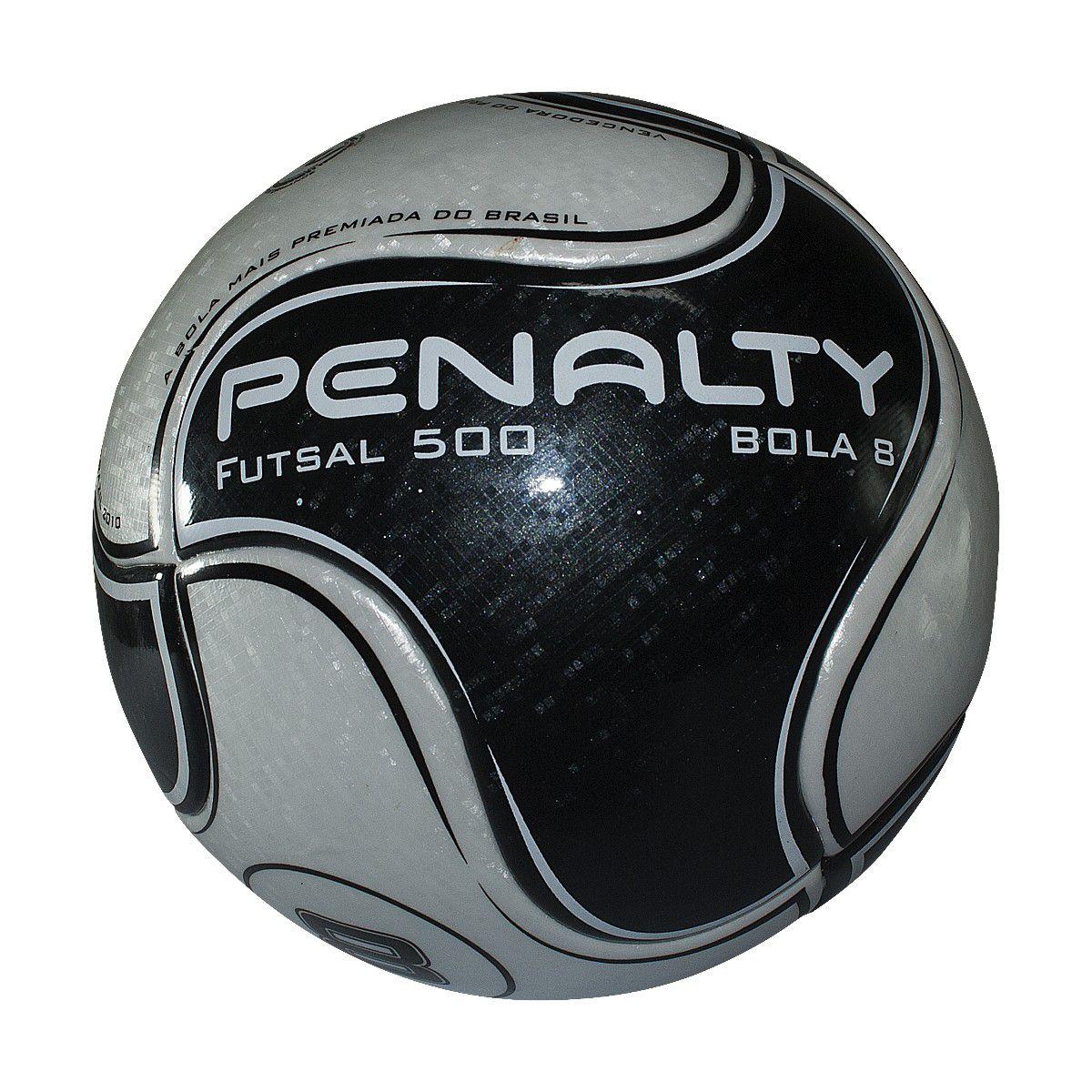 b44a8270c Bola Futsal Penalty Futsal 500 8 IX - Branco Preto - Joinville ...