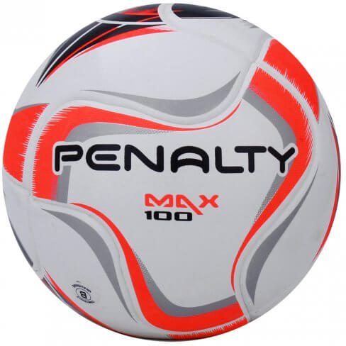 Bola Futsal Penalty Max 100 Term X - Branco e Laranja