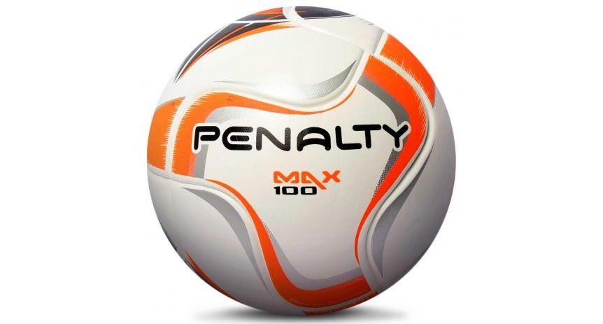 Bola Futsal Penalty Max 100 Termotec X Infantil - Branco e Laranja