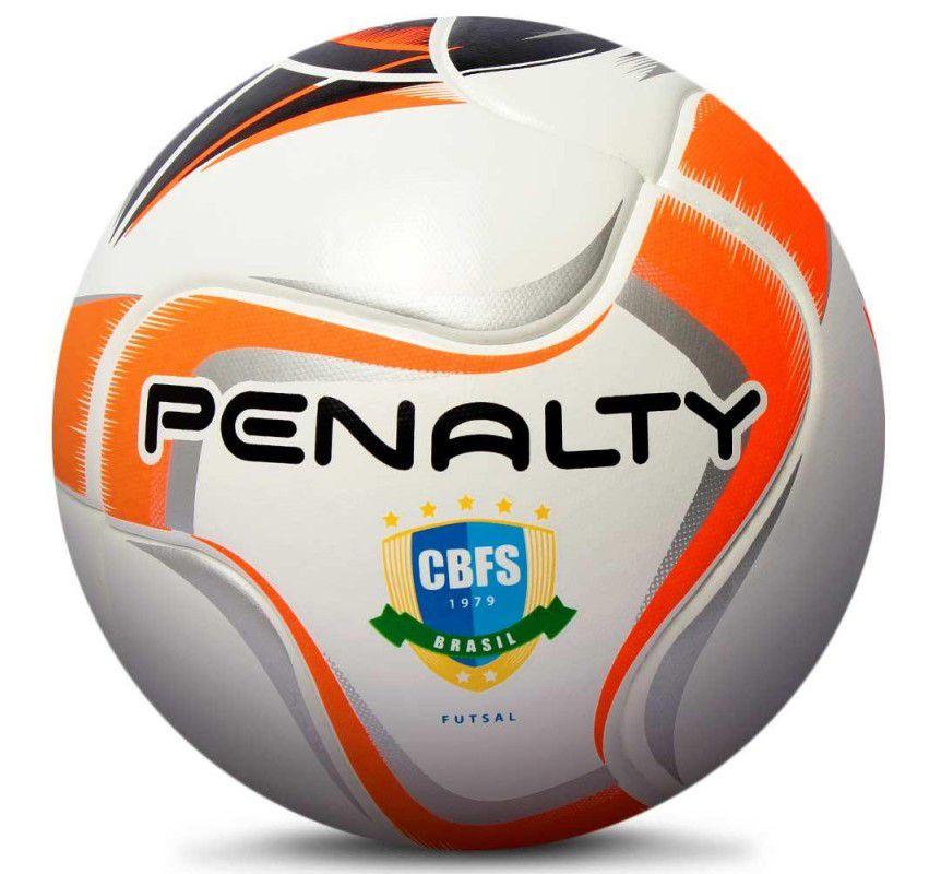 Bola Futsal Penalty Max 200 Termotec X - Branco e Laranja