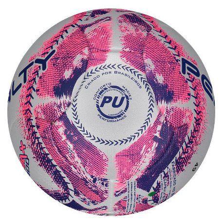 Bola Futsal Penalty Max 400 IX - Branco e Rosa