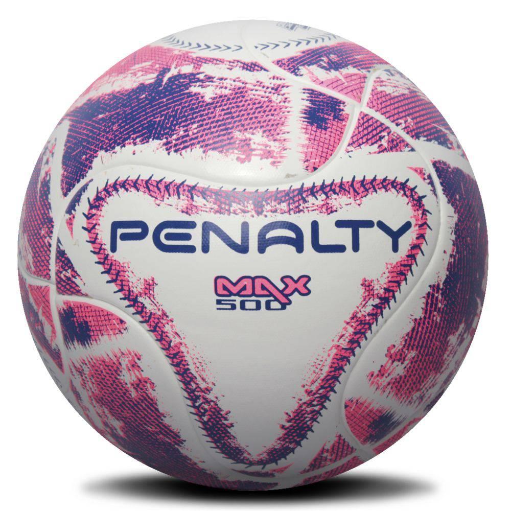 Bola Futsal Penalty Max 500 Termotec IX - Branco e Rosa