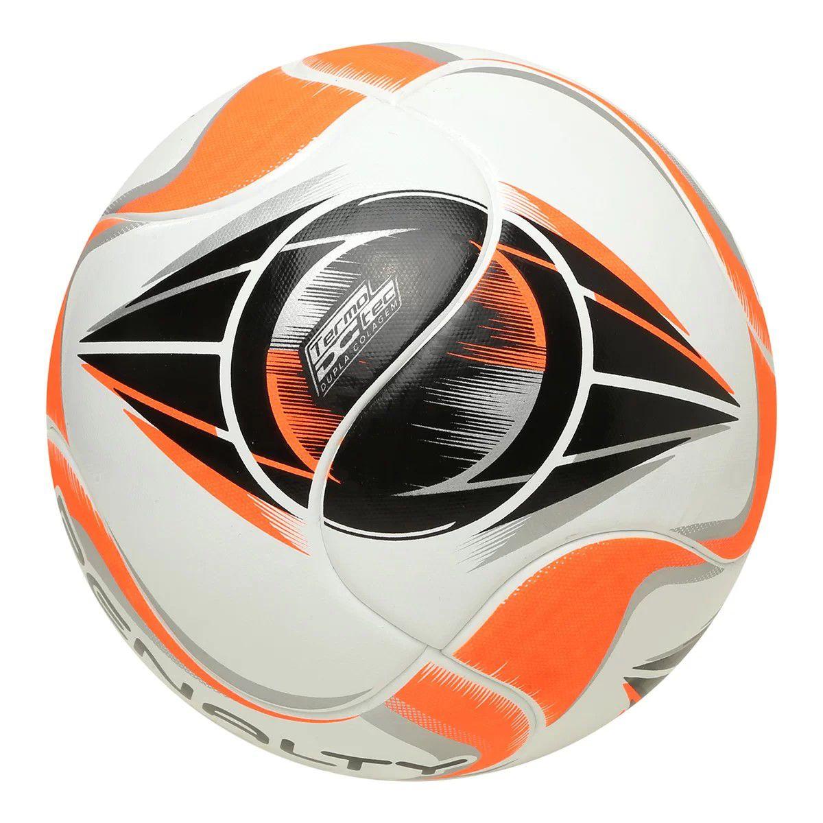 Bola Futsal Penalty Max 500 Termotec X - Branco e Laranja