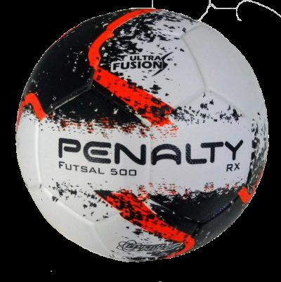 Bola Futsal Penalty Rx 500 R2 Ultra Fusion - Branco e Preto