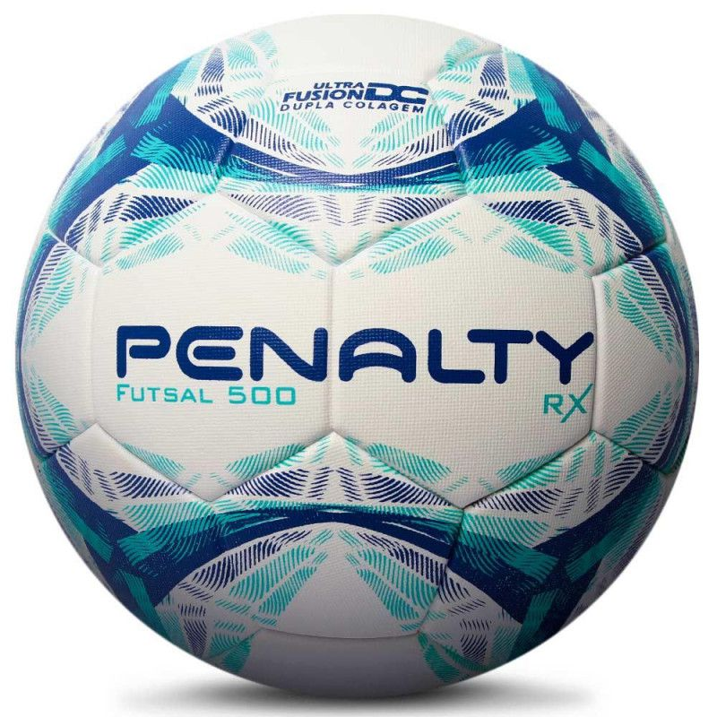 Bola Futsal Penalty Rx R1 500 IX - Branco/Azul