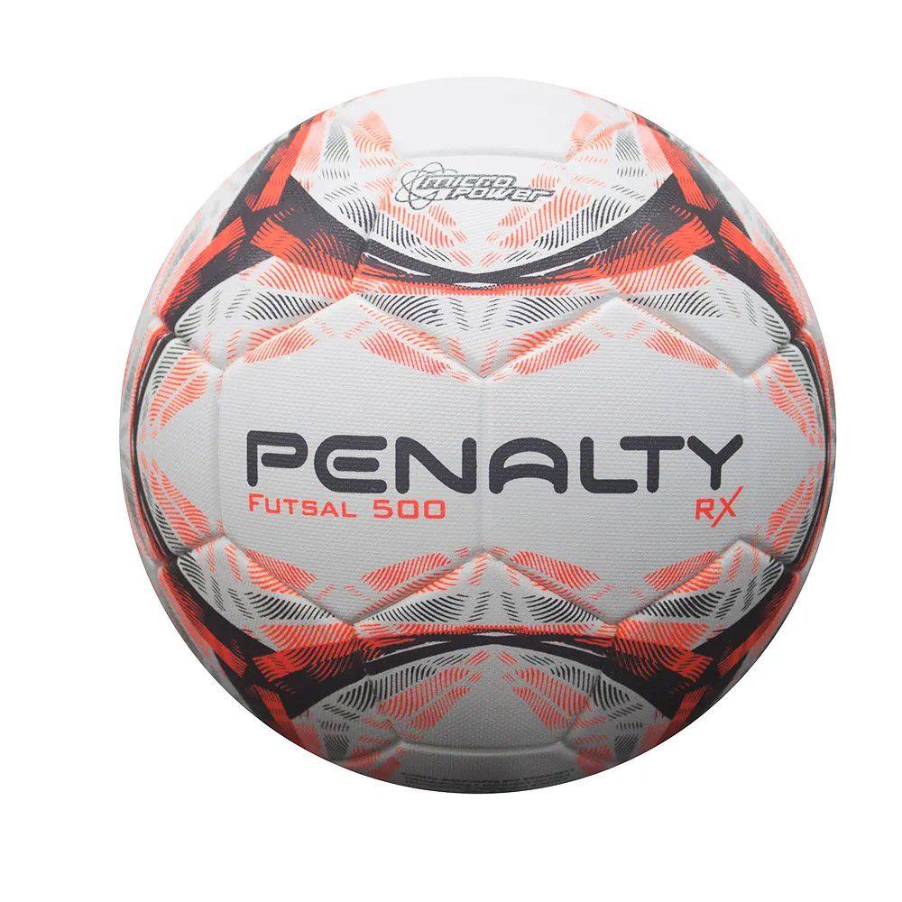 Bola Futsal Penalty Rx R1 500 IX - Branco/Laranja