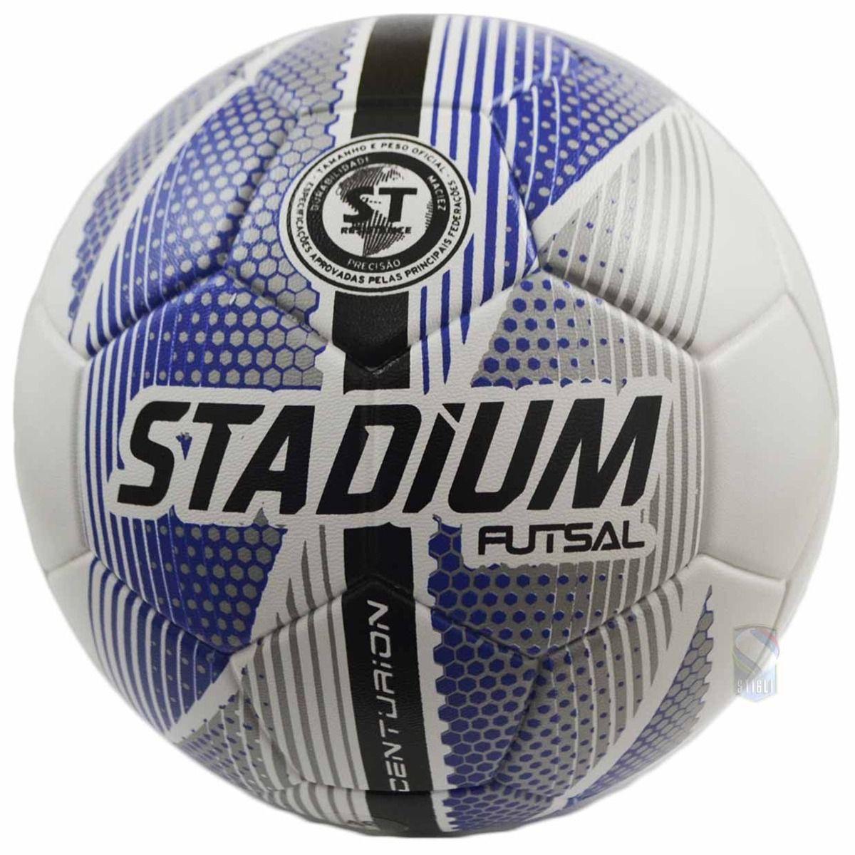 Bola Futsal Stadium Centurion Unissex - Branco-Azul