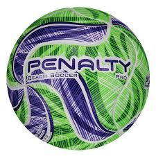 Bola Penalty Beach Soccer Pro IX Penalty - Verde/Roxo