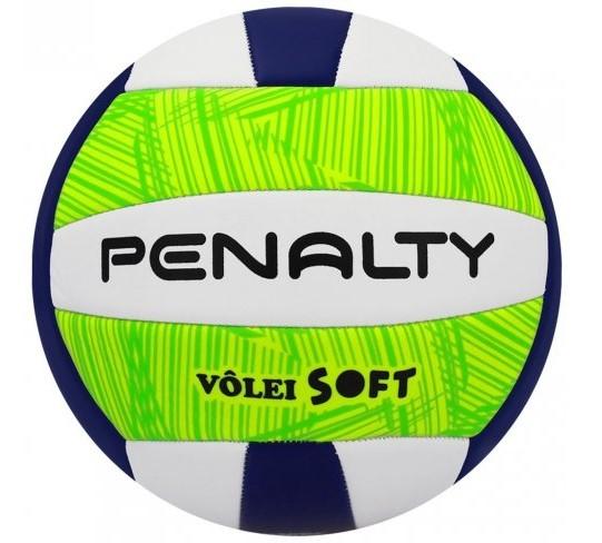 Bola Penalty Volei Soft X - Branca e Verde