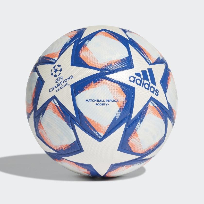 Bola Adidas Society UCL Finale 20 League - Branco e Azul