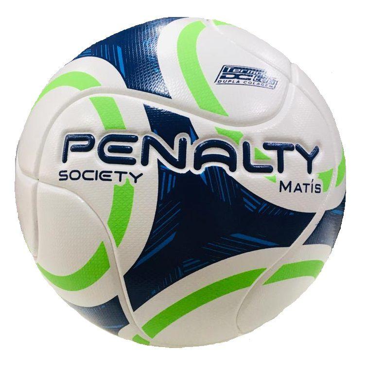 Bola Society Penalty Matís IX - Branco/ Azul/ Verde