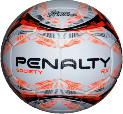 Bola Society Penalty Rx R1 500 IX - Branco/Laranja