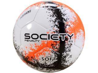 Bola Society Penalty RX R3 VIII Ultra Fusion - Branco e Laranja