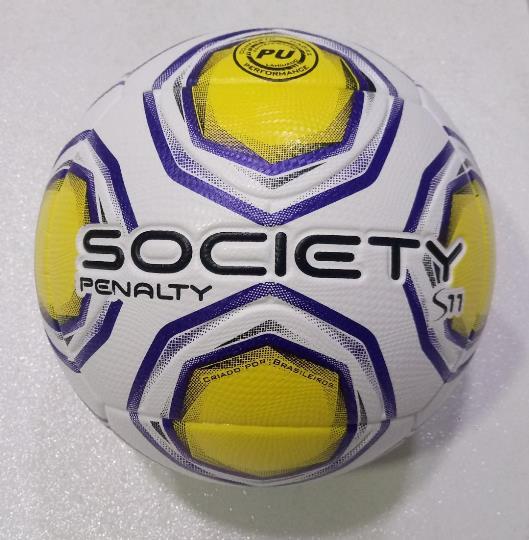 Bola Society Penalty S11 R2 XXI - Branco e Amarelo