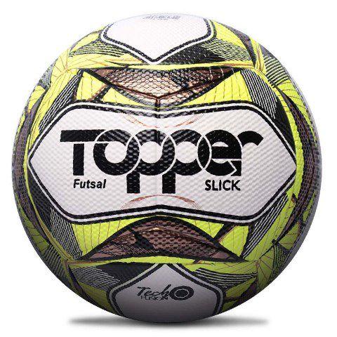 Bola Futsal Topper  Slick II - Branco e Amarelo