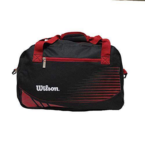 Bolsa Wilson Esportiva Para Treino - Preta/Vermelha