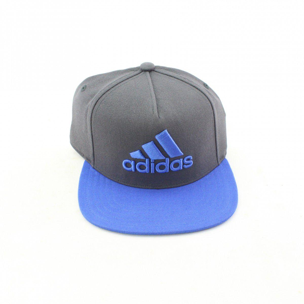 Boné Adidas X Flat Masculino - Cinza/Azul