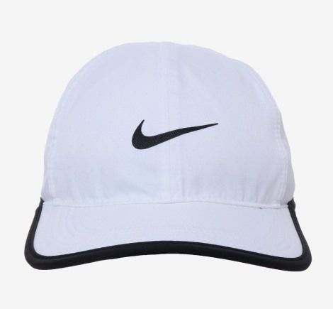 Boné Nike Featherlight Adulto - Branco/Preto
