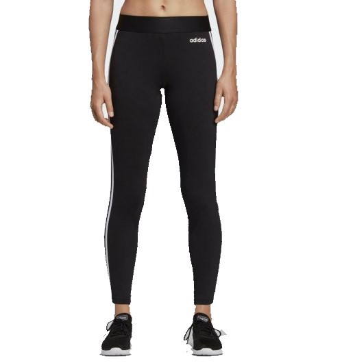 Calça Legging Adidas Essentials 3 - Stripes Feminina - Preta