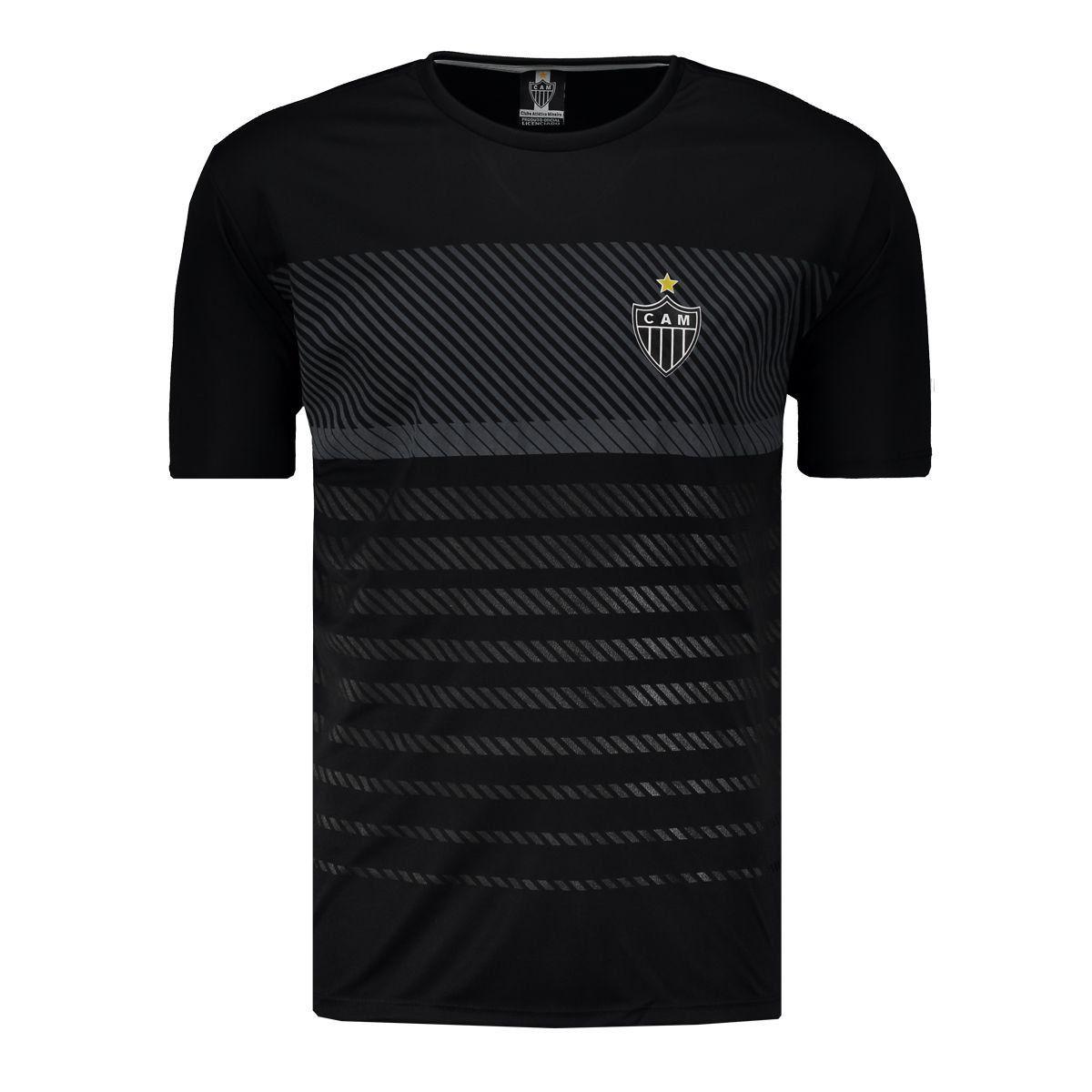 Camisa Atlético Mineiro Braziline Graphic Adulto - Preto