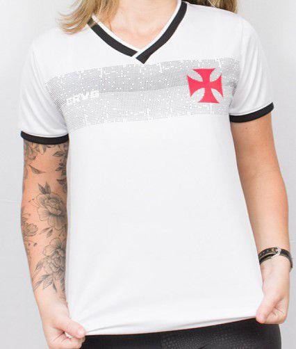 Camisa Babylook Braziline Vasco Evoke - Feminino - Branco