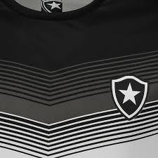 Camisa Botafogo Braziline Forest Adulto - Preto/Branco