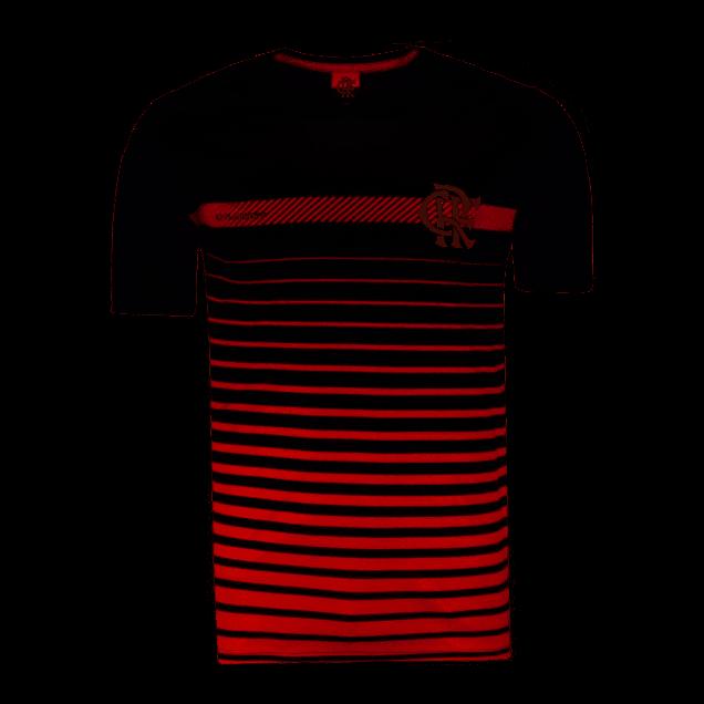 Camisa Braziline Flamengo Date - Masculino - Preto e Vermelho