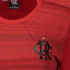 Camisa Braziline Flamengo Dribble Masculina - Vermelho