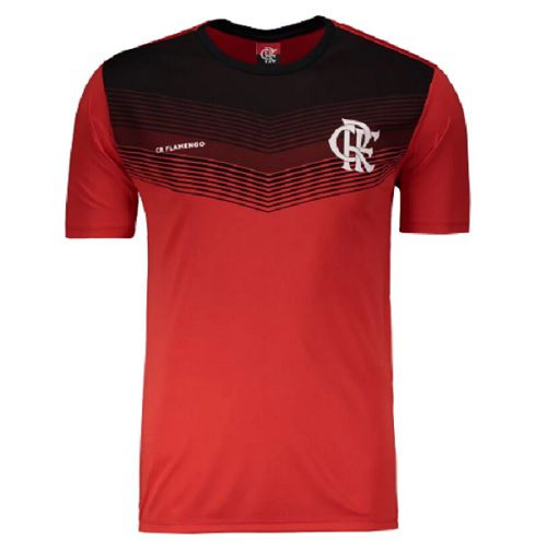 Camisa Braziline Flamengo Forest - Masculino - Vermelho e Preto