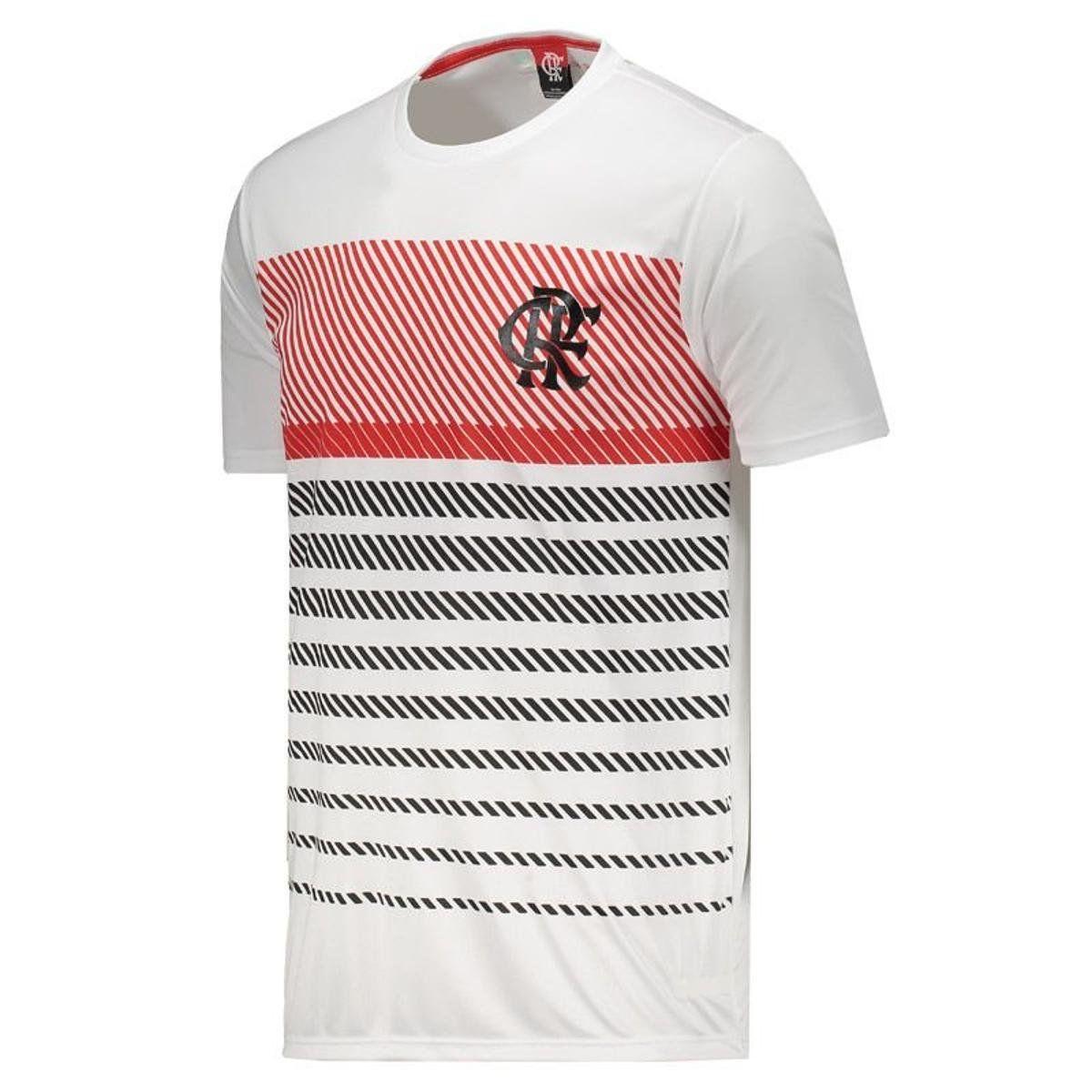 Camisa Braziline Flamengo Graphic - Masculino - Branco e Vermelho