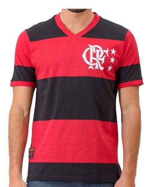 Camisa Flamengo Braziline Lib CRF Rubro Negra Masculino