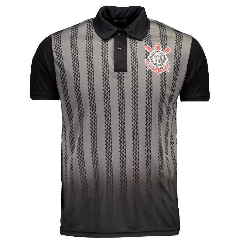 Camisa Corinthians Polo Dark Side Masculino - Preto