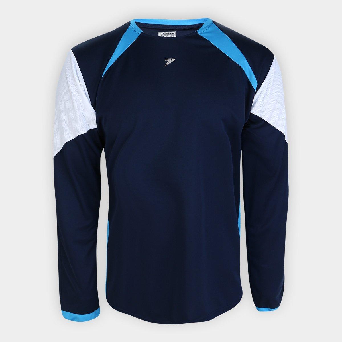 Camisa de Goleiro Poker Roma Manga Longa - Adulto - Marinho/Azul