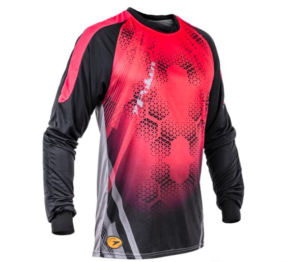 Camisa De Goleiro Poker Sublimax Bank Adulto - Preto / Vermelho