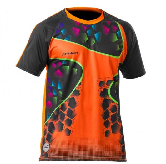 Camisa De Goleiro Poker Sublimax Criptônio - Laranja/Preto