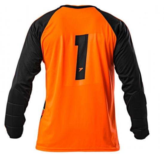 Camisa De Goleiro Poker Sublimax Criptônio M/L - Adulto - Laranja/Preto