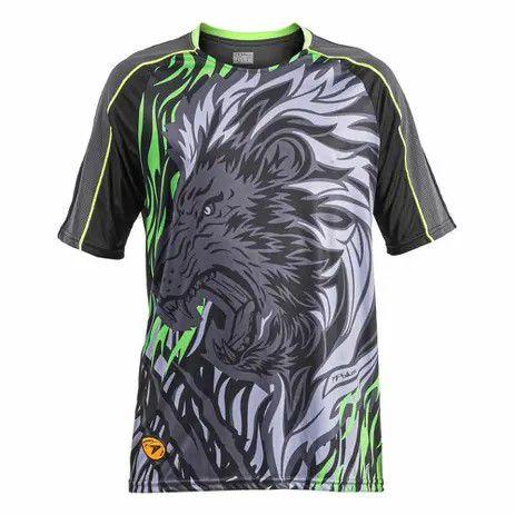 Camisa De Goleiro Poker Sublimax Lion - Preto e Verde