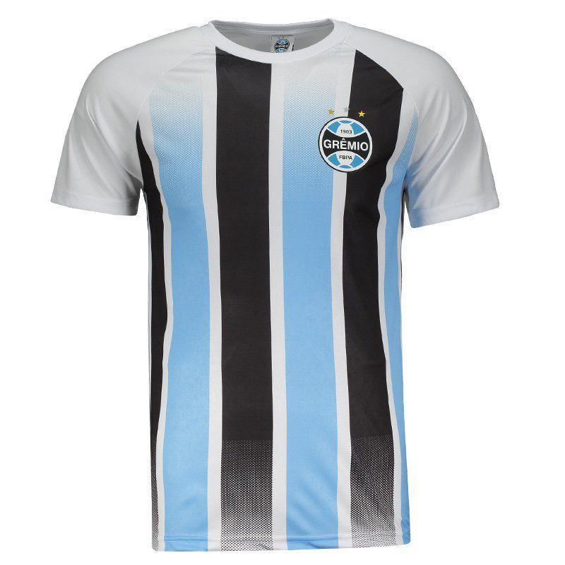 Camisa Grêmio Classic SPR - Masculina - Branco/Azul