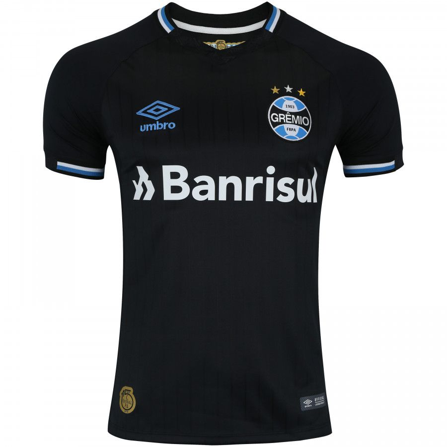 Camisa Grêmio Umbro Oficial III Masculina - Preta