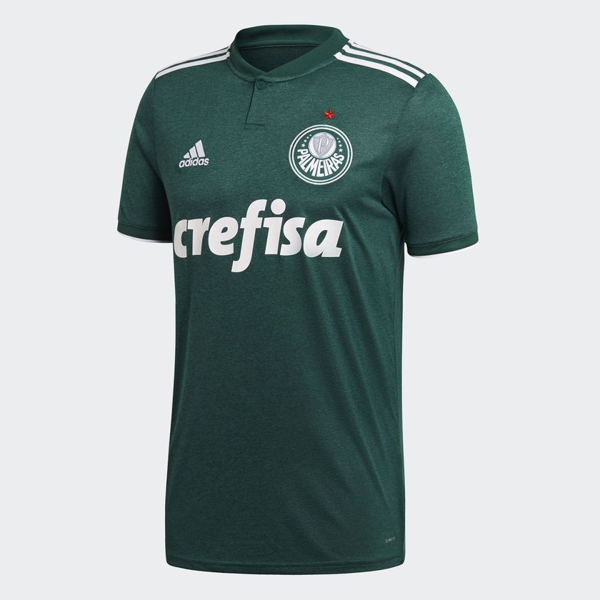 Camisa Palmeiras Adidas Oficial 1 Masculina - Verde