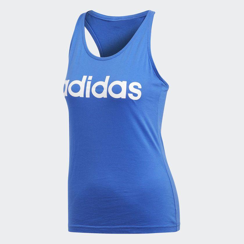 f264a396793ac Camisa Adidas Regata Ess Li Sli Feminina Azul