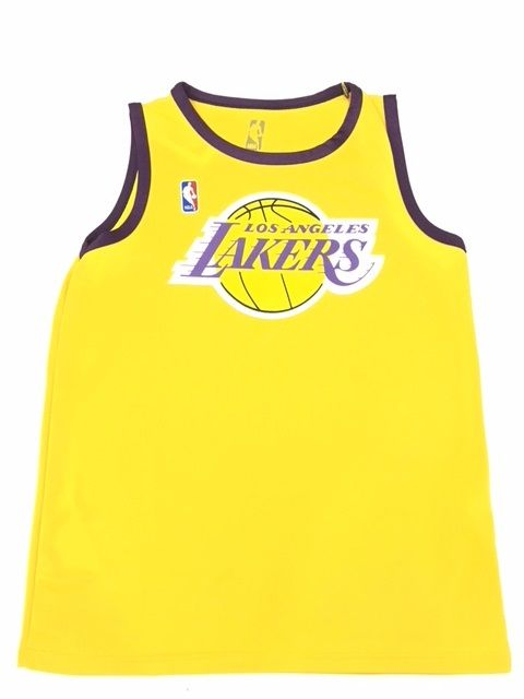 Camisa Regata NBA Fang Los Angeles Lakers - Amarelo