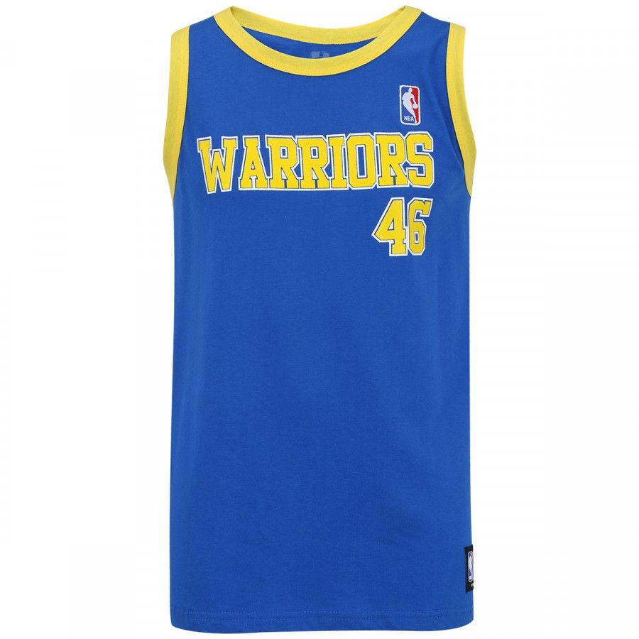 Camisa Regata NBA Retrô G.S Warriors - Azul