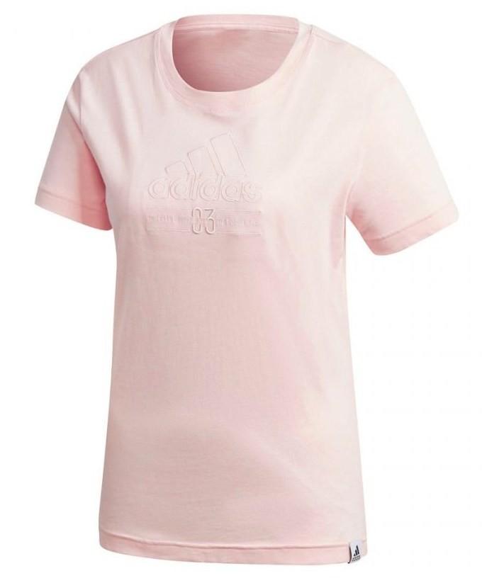 Camiseta Adidas Brillant Basic Feminina - Rosa Claro