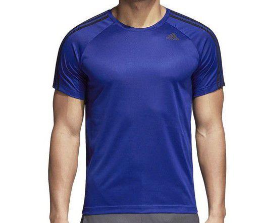 Camiseta Adidas D2M Tee 3S Masculina - Azul