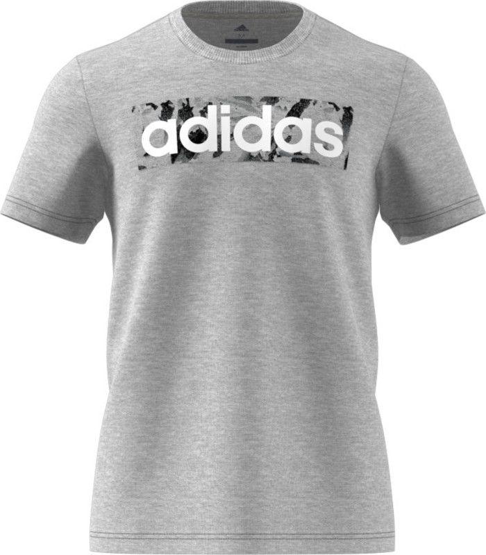Camiseta Adidas e Lin Aop Box Masculino - Cinza