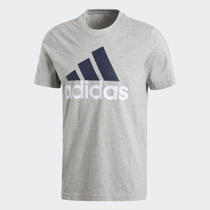 Camiseta Adidas Essentials Linear Masculina - Cinza